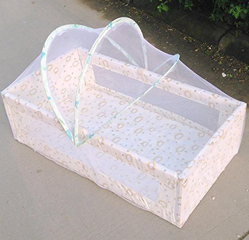 Naladoo Newest Foldable Cradle Bed Mosquito Net Nursery Bed Crib Arch Mosquito Net for Baby Kid Infant