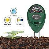 Housolution Soil pH Meter, 3 in 1 Soil Test Kit for Soil Moisture Sunlight pH Tester Kits Gardening Tools for Patio Lawn Plant Outdoor Indoor Use, Green