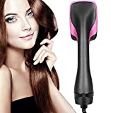 Hot Air Brush, 2 in 1 One Step Hair Dryer Stylers Professional Salon Negative Ion Hair Straightener for All Hair Type