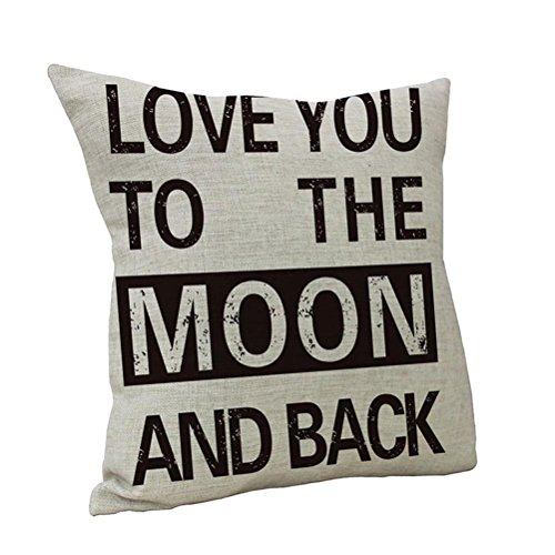 Nunubee Decorative Linen Cotton Letters Printed Home Sofa Pillow Case Cushion Cover Pattern B - Industrial Letter B