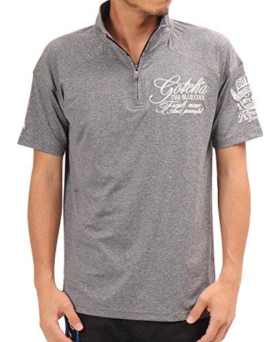 ガッチャゴルフ GOTCHA GOLF 半袖シャツ?ポロシャツ カラー杢2WAYストレッチハーフジップ半袖シャツ