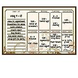 Dry Erase Magnet Weekly Calendar Floral