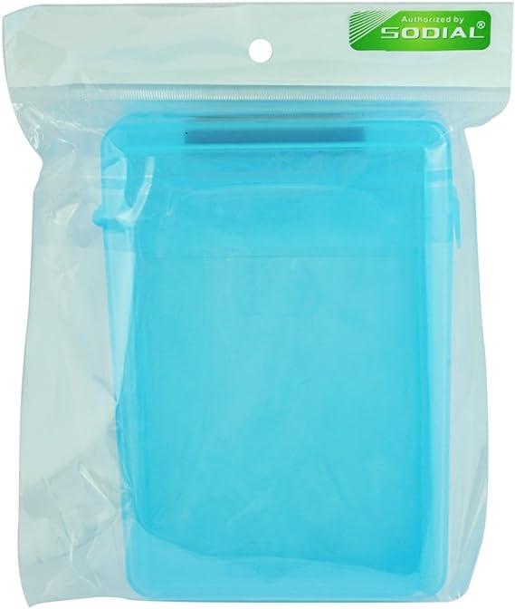 SODIAL(R) Caja de Almacenamiento IDE/SATA HDD Disco Duro 3.5-Pulgadas (Azul): Amazon.es: Electrónica