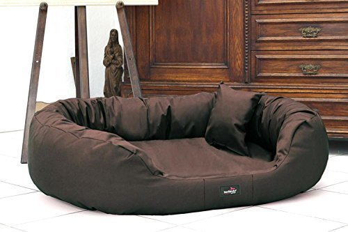 Tierlando Dog Bed Ares Made of Solid Polyester Dog Sofa XL XL XXL XXXL 110 125 140 170 cm 11 Farben 01 Brown, A2  140 x 100 cm