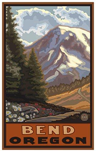 Bend Oregon Springtime Mountains Travel Art Print Poster by Paul A. Lanquist (12