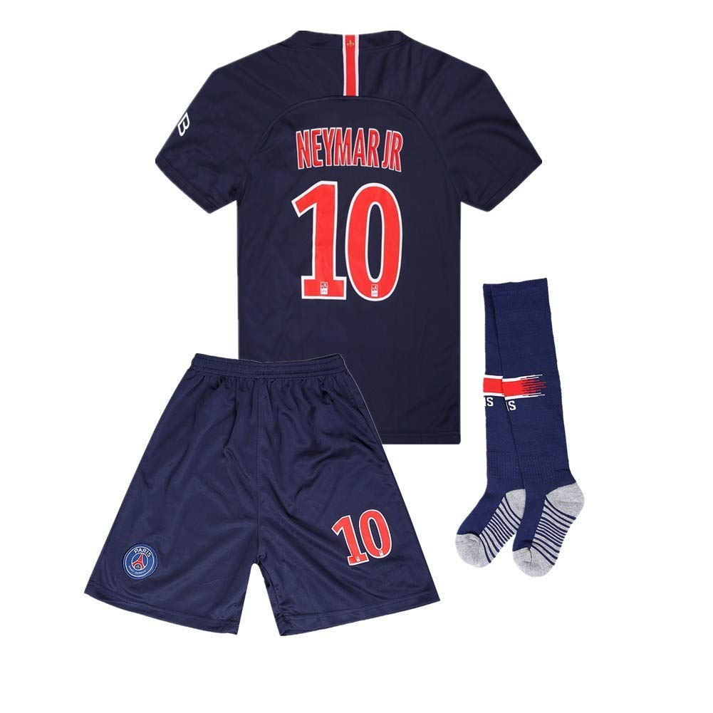 best service 68b65 12110 Paris Saint Germain 18-19 Neymar JR #10 Home Soccer Jersey Kids/Youth Color  Blue
