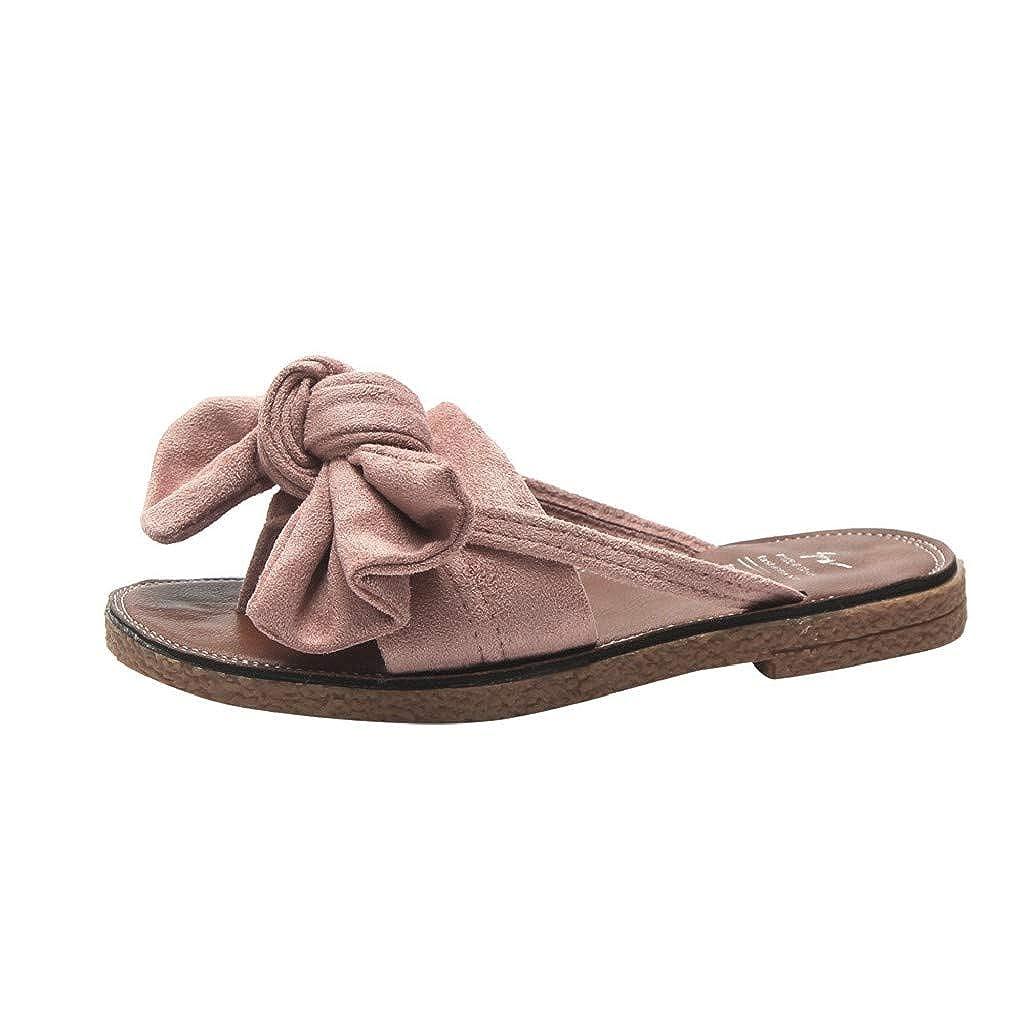 Photno Women Spring and Summer Bohemia Flat Heel Sandals Slipper Beach Shoes