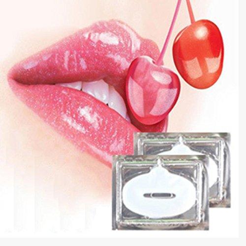 Vanvler 10PCS Collagen Crystal Gel Lip Mask Moisturizing Repair Remove Lines Blemishes Lip Care (A)