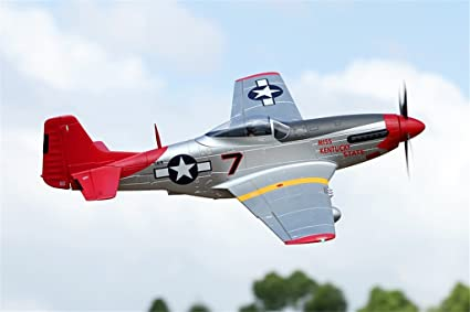 Amazon Com Fms P 51 Mustang Red Tail Rc Airplane 6ch 1700mm