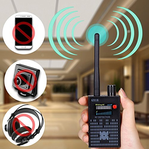JMDHKK Anti-Spy Amplification Signal Detector spy Bug Camera Wireless Detector spy Detector Device spy Camera Wireless Hidden