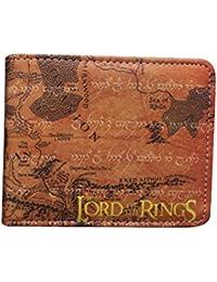 El Señor de los anillos mapa de piel sintética Bifold Wallet