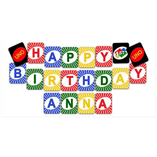UNO First Birthday Banner Birthday Banner Personalized Party Backdrop Decoration]()