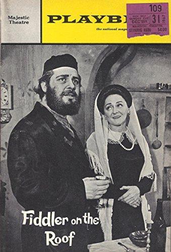 Bock & Harnick FIDDLER ON THE ROOF Bette Midler (Debut) 1967 Broadway Playbill/Ticket Stub