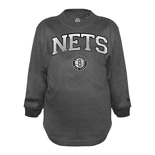 5 New Jersey Nets - Profile Big & Tall NBA New Jersey Nets Youth NBA Thermal Screen Top, Grey, 5/6