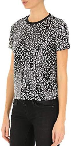 Michael Kors Fashion Woman MH95MCRDPC128 Black Polyester T-Shirt | Spring Summer 20