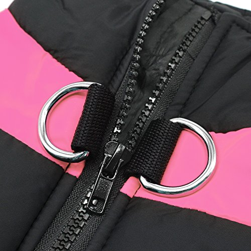 Didog Cold Weather Dog Warm Vest Jacket Coat,Pet Winter Clothes for Small Medium Large Dogs,8, Pink,4XL Size by Didog (Image #5)