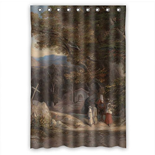 MaSoyy Beautiful Scenery Landscape Painting Shower Curtains Polyester Best For Teens Mother Boys Teens Husband. Modern Design Width X Height / 48 X 72 Inches / W H 120 By 180 Cm(fabric)