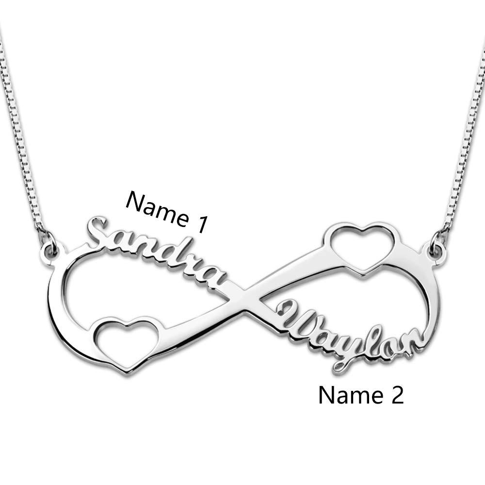 Individuelle Unendlichkeit Halskette Silber//Rosegold//Gold mit Namen Bo/&Pao Infinity Namenskette 925 Sterling Silber