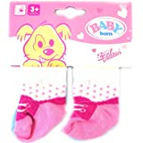 Baby Born Socks 2 Pairs- Choice of 3 Colours (One Supplied) (PINK/PLAIN BLUE)