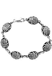 Egyptian Jewelry Silver Scarab Bracelet