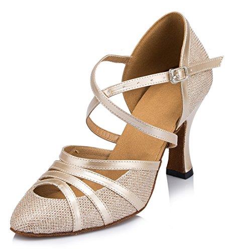TDA - Zapatos de tacón  mujer 8cm Heel Champagne