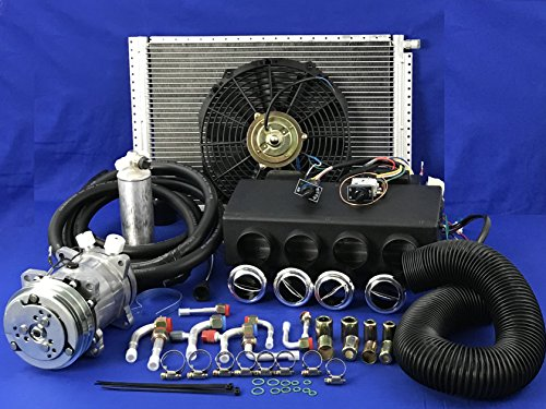 A/C KIT Universal UNDERDASH Evaporator Compressor 2A 432-000DC !! 12 V !! W/Electrical Harness