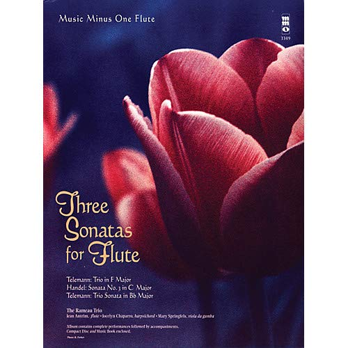 (Three Sonatas for Flute Music Minus One Series Softcover with CD Composed by Various- Pack of 2)