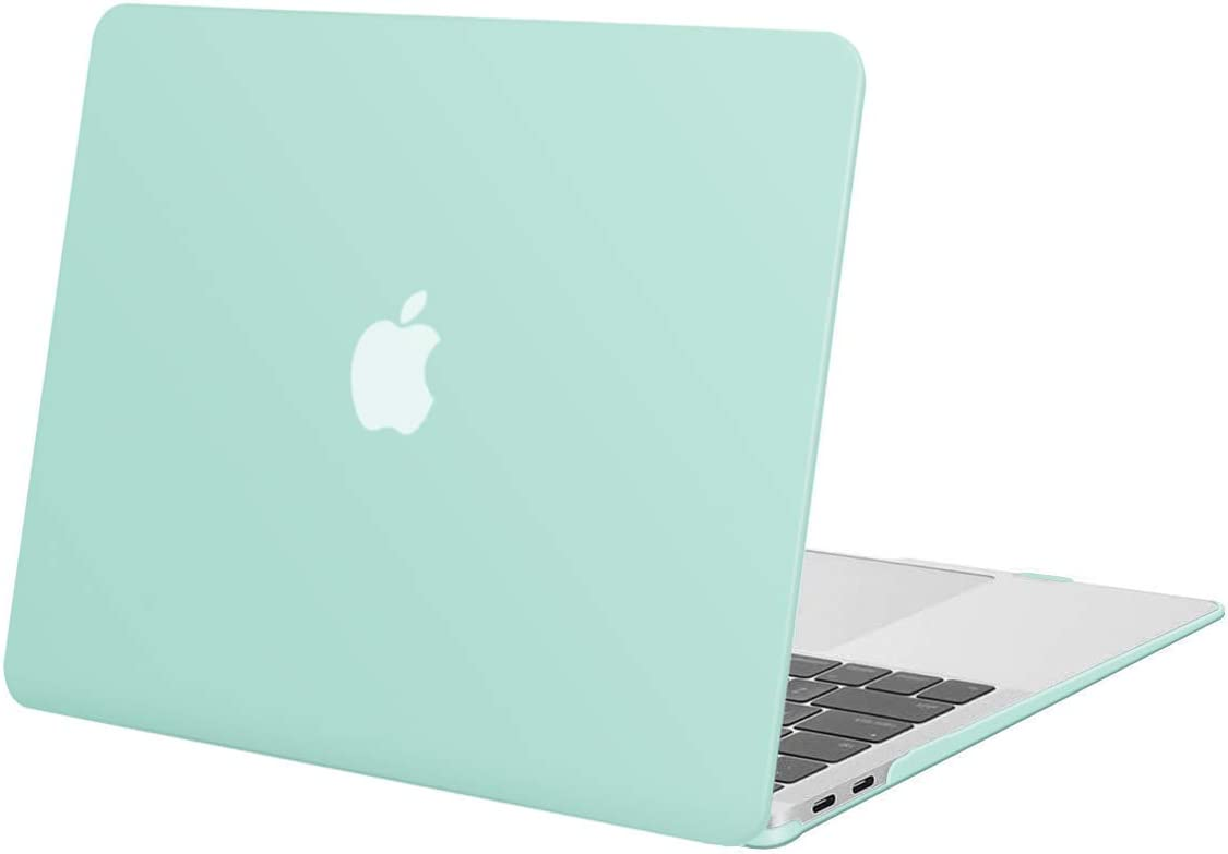 MOSISO MacBook Air 13 inch Case 2020 2019 2018 Release A2179 A1932, Plastic Hard Shell Case Cover Only Compatible with MacBook Air 13 inch with Retina Display, Mint Green