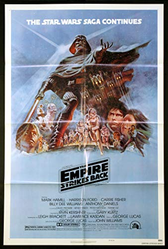 THE EMPIRE STRIKES BACK STAR WARS 1980 ORIGINAL ONE SHEET 27X41 MOVIE POSTER STYLE B NEAR MINT