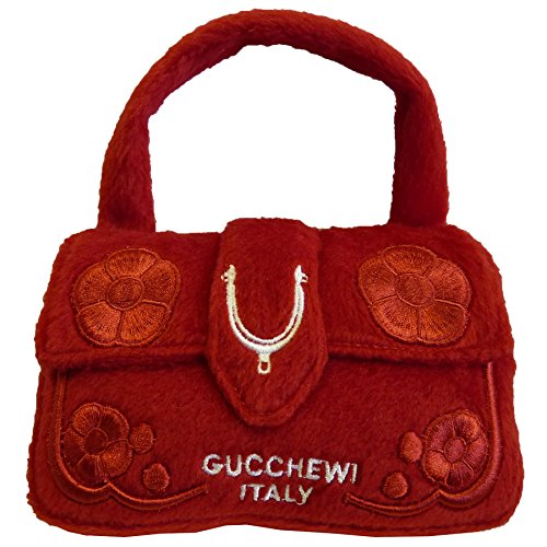 Guccis New Collection - Dog Diggin Designs Runway Pup Collection | Unique Squeaky Plush Dog Toys – Haute Couture Purses & Handbags