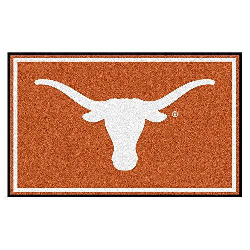 FANMATS NCAA University of Texas Longhorns Nylon Face 4X6 Plush Rug by Fanmats