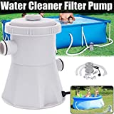 lotus.flower Electric Swimming Pool Filter Pump-Clear Sand Filter Pump for Above Ground Pools-Swimming Pool Cleaning Tool US (Gray)