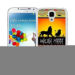 Colorful Samsung Galaxy S4 Case Elegant on Sunset Lion King Soft TPU Rubber White Cell Phone Cover Accessories