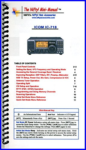 Icom Manual Radio (Icom IC-718 Mini-Manual by Nifty Accessories)