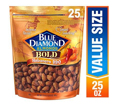 Blue Diamond Almonds Bold Habanero BBQ Almonds, 25 oz