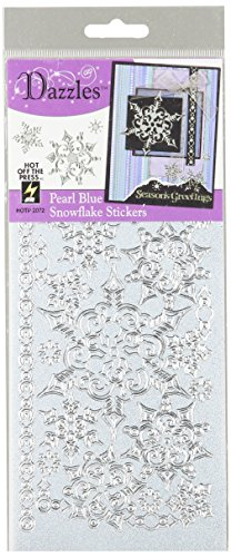Dazzles Stickers            -Snowflakes-Pearl Blue & Silver by Hot Off The Press