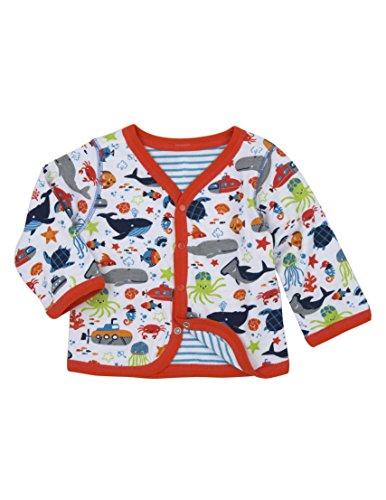 Hatley Baby Boys' Reversible Cardigan, Ocean Animals Green, (Hatley Animal)