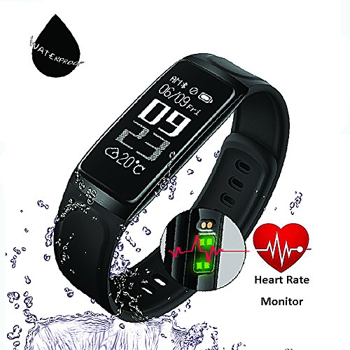 HapFit Fitness Tracker, Smart Bracelet Activity Wristband Calorie Habit Heart Rate and Sleep Monitor Bluetooth Wireless Waterproof Pedometer Watch Counter Band for IOS & Android Wear Device Support -