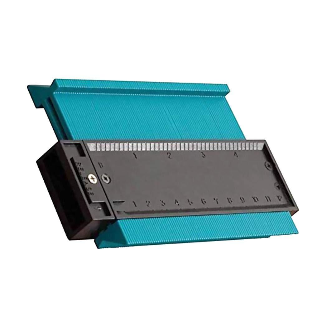 baldosas Con escala curva Medidor de contorno de forma irregular F/ácil de usar Duplicadora de perfil de perfil de cuchilla para transferir contornos y progresiones de corte Ideal para laminados