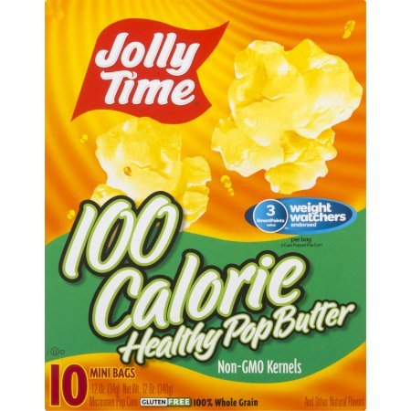 Jolly Time Healthy Pop Butter Microwave Popcorn Weight Watchers Single Serve Mini Bags, 10 Count (Pack of 1) by JOLLY TIME