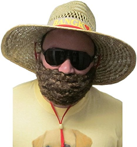 Halloween Alan Costume Hangover (Costume Synthetic Adult Brown Beard &)