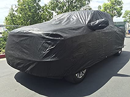 Xtrashield Custom Fit 2000-2019 Chevy Silverado 1500 2500 3500 Crew Cab 6.6ft Short Bed Box Truck Car Cover Black