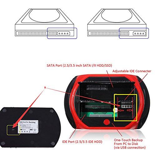 Hard Drive Docking Station, WANLONGXIN WLX-875D-US USB 2 0 to SATA