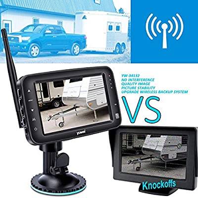 Wireless Backup Camera System, IP69k Waterproof Wireless License Plate Rear View Camera, Night Vision and 4.3 inch Wireless Monitor for Trailer, RV, Trucks, Pickup Trucks, Cargo Vans, etc: Automotive