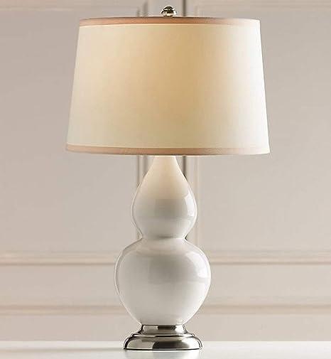 FANg Lámpara de pie Lámpara de Mesa Calabaza Blanca Lámpara de Mesa de Vidrio Pastoral nórdico Dormitorio Europeo Creativo Mesita de Noche Lámpara de Mesa Lampara de Cuarto (Color : White): Amazon.es: