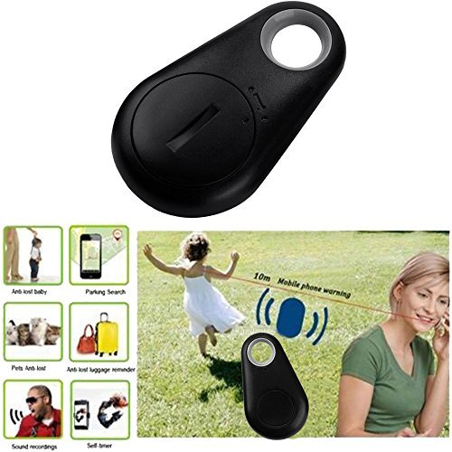 Key Finder, Anti Lost Pet Bag Wallet Theft Device Alarm Bluetooth Remote GPS Tracker (Black)