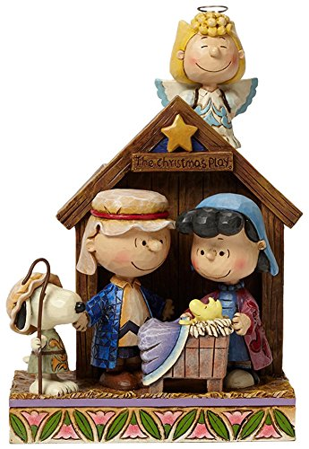 Peanuts by Jim Shore Peanuts Christmas Pageant Stone Resin Figurine, - Jim Village Shore