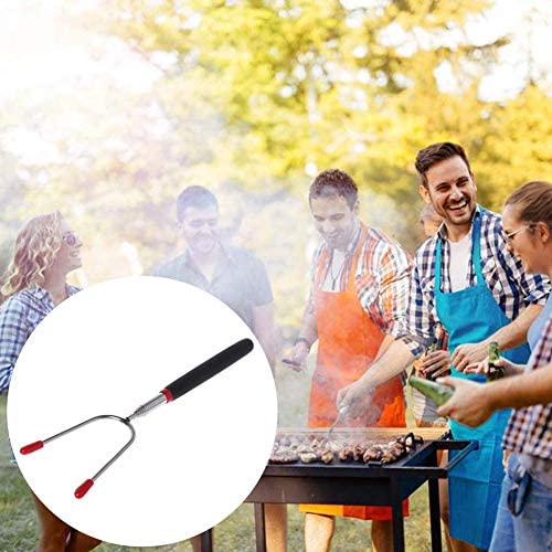 ZMYNB Marshmallow Rôtissage Sticks, Barbecue en Acier Inoxydable Marshmallow Torréfaction Sticks Hot Dog Telescoping Forks Smores Brochettes Camping
