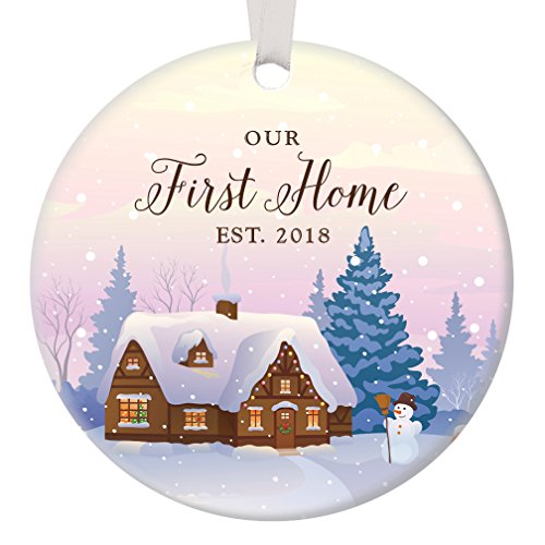 (Our First Home Ornament Est 2018, 1st Christmas in New House Ornament, First Christmas our Home, 3