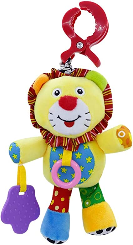 Baby Plush Toy Rattles Ball Stroller Crib Bed Hanging Infant Soft Music Toys H